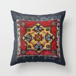 Antique Carpet Sadle Bag Throw Pillow