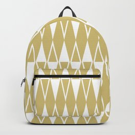 Mid Century Modern Diamond Pattern Gold 234 Backpack