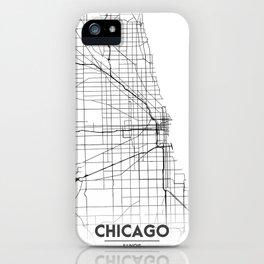 Minimal City Maps - Map Of Chicago, Illinois, United States iPhone Case