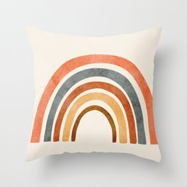Abstract Rainbow 88 Throw Pillow