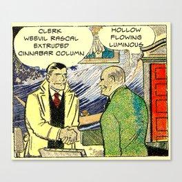 clerk weevil rascal Canvas Print