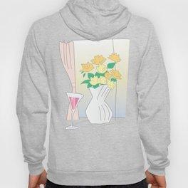 Flowers by the window Hoody