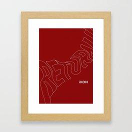 "iKON ""Return"" ""Love Scenario"" Framed Art Print"