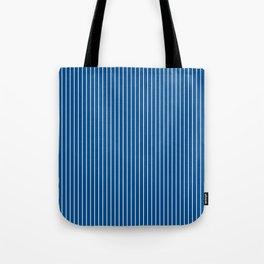Lapis Blue Stripes Tote Bag