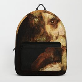 Rembrandt - Study of the head of a bearded old man Backpack