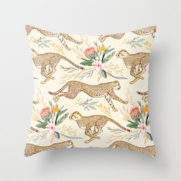 Weightless Cheetahs in Boundless Safari  Throw Pillow