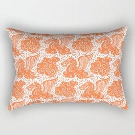Pegasus Pattern Orange Rectangular Pillow