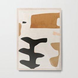 Minimal Abstract Shapes 62 Metal Print