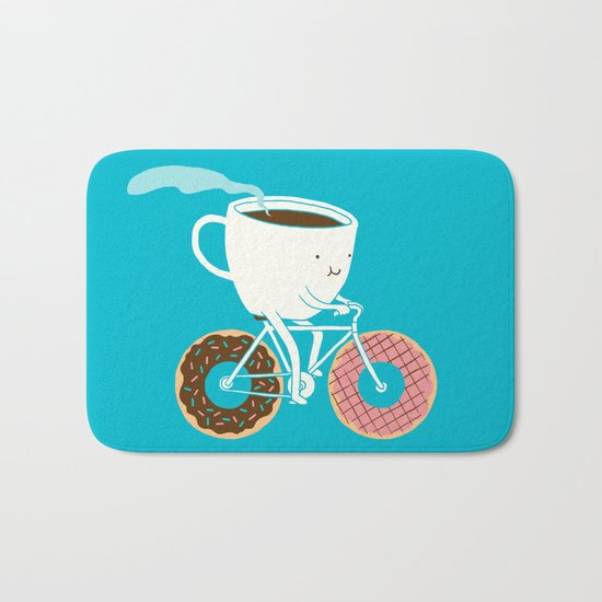 Coffee and Donuts Bath Mat