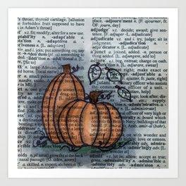 Pumpkin Pals Art Print