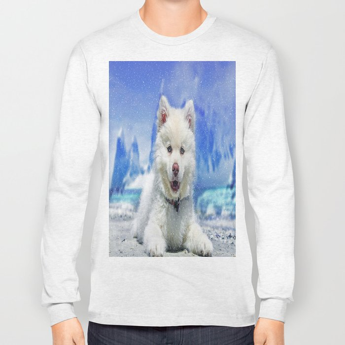 Winter Snowdog Long Sleeve T-shirt