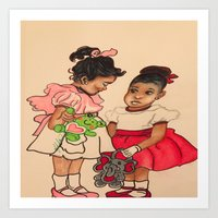 chile Art Prints featuring Chile Boo by YMVA, LLC