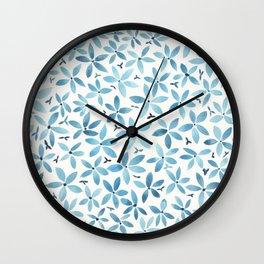 Blue Bouquet Wall Clock