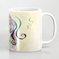 fairy tale Mugs featuring Fairy Tale by Irmak Akcadogan