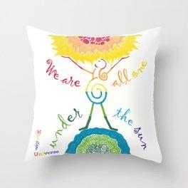 Unity Goddess of the Universe / Rainbow Throw Pillow