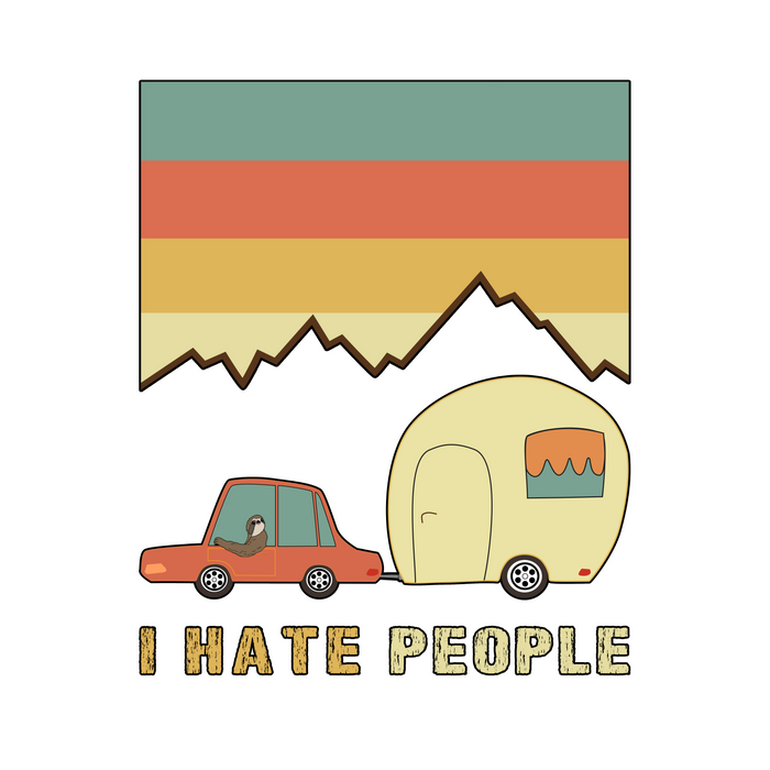 I Hate People Humans Holiday Sloth Camper Camping Design Comforters