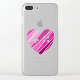 Gamer Girl at Heart Clear iPhone Case