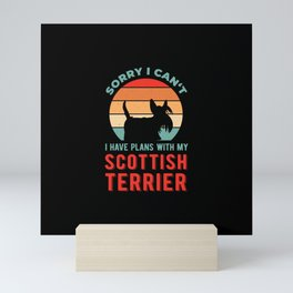 Funny Scottish Terrier Mini Art Print