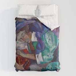 Magnificent 'Gitane Endormie (Sleeping Gypsy)' Dreaming by Robert Rafailovich Falk Comforters