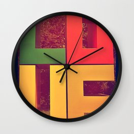 You can find LOVE everywhere  Wall Clock