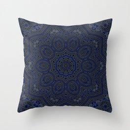 Marrakech Mandala With Stratos Backdrop Throw Pillow