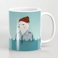 life aquatic Mugs featuring Bill Murray - Life Aquatic by Drivis