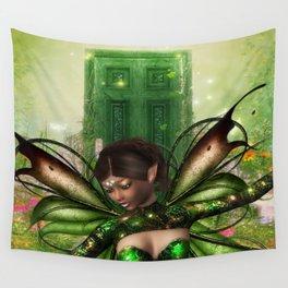 Green Door Wall Tapestry