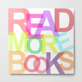 READ MORE BOOKS Metal Print