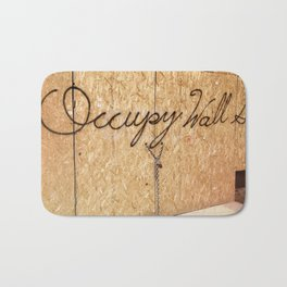 Occupy Wall Street on Storefront Photo Bath Mat
