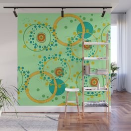 Concentric Green Wall Mural