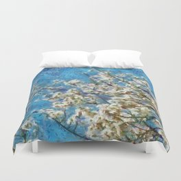 Blossom and Blue Sky In Monet Style Duvet Cover