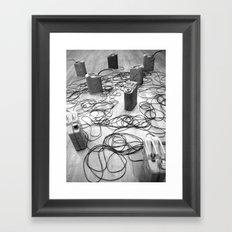 Gas tanks Framed Art Print