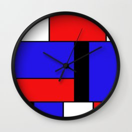 Mondrian #69 Wall Clock