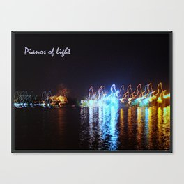 Pianos of light II Canvas Print