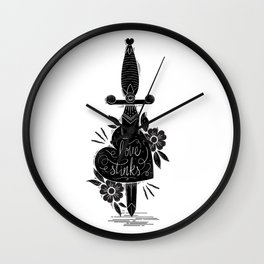 Heart-Dagger Wall Clock