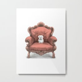Know your place (in coral) Metal Print