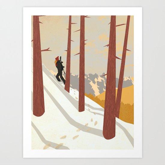 I would be... an explorer  Art Print