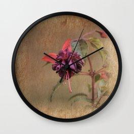 Fuschia Time Wall Clock