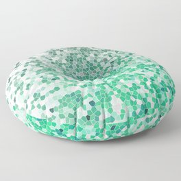 Marble Geometric Silver Green Design Pattern Abstract Floor Pillow