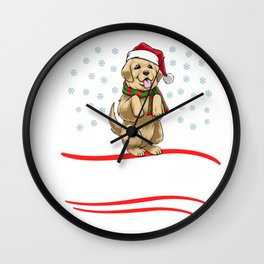 Christmas Let It Snow Wall Clock
