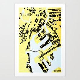 TOKYO (MAPSTAT SERIES) Art Print