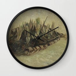 Basket of Crocus Bulbs Wall Clock