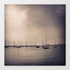 Foggy Harbor - Chicago Canvas Print