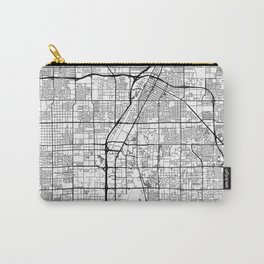 Las Vegas Map White Carry-All Pouch