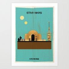 Star wars Directed by George Lucas Art Print