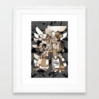 gundam Framed Art Prints featuring Gundam Style by RiskeOne opc