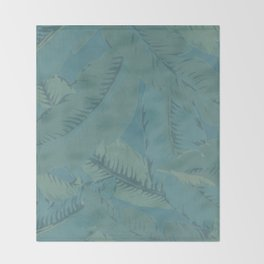 Faded Palms Pattern Throw Blanket