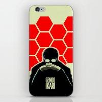 evangelion iPhone & iPod Skins featuring Gendo Ikari from Evangelion. Super Dad. by Barrett Biggers