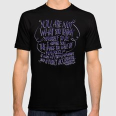 NISARGADATTA MAHARAJ Mens Fitted Tee LARGE Black