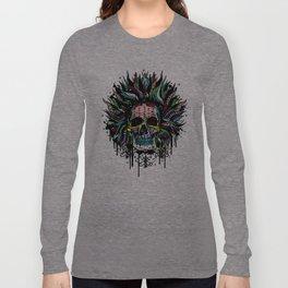 Magical Voodoo Skull Warrior Long Sleeve T-shirt